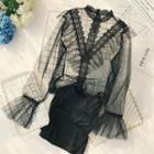 Set: Camisole Top + Sheer Shirt