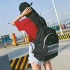 Front Transparent Pocket Oxford Backpack