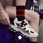 Colorblock Platform Sneakers