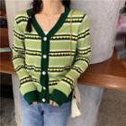 Heart Print Pullover Sweater / Heart Print Cardigan