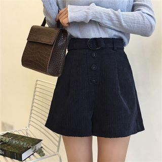 High Waist Corduroy Shorts