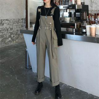 Cropped Jumper Cargo Pants As Shown In Figure - One Size