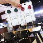 Rose Drop Earrings Green - One Size