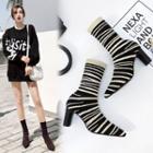 High Heel Knit Boots