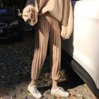 Rib-knit Jogger Pants