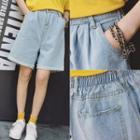 Harem Denim Shorts