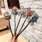 Flower & Bow Hair Bun Maker