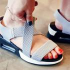 Elastic Cross-strap Sandals