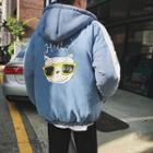 Cat Hooded Zip Padded Jacket
