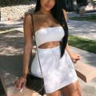Off Shoulder Cutout Dress / Playsuit