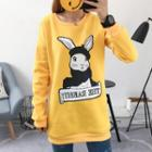 Rabbit Print Long Pullover