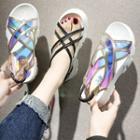 Clear Strap Slingback Platform Sandals