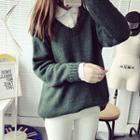 V-neck Plain Sweater