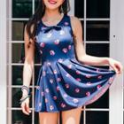 Bow Accent Printed Swimdress
