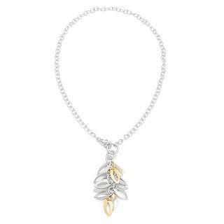 Gold And Silver Leaf Necklace