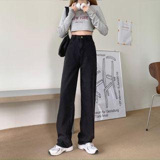 Wide-leg Jeans / Belt / Set