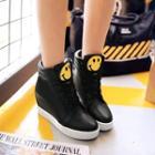 Smiley Hidden Wedge High-top Sneakers