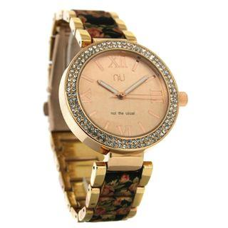 Metallic Floral Watch One Size