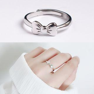 Bow 925 Sterling Silver Ring Silver - One Size