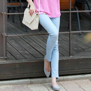 Elastic-waist Straight-cut Pants