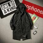 Hooded Button Long Jacket