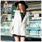 Plain Hooded Buttoned Coat
