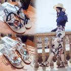 Ankle-strap Flower Sandals