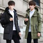 Padded Zip-up Hooded Coat
