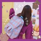 Set: Plaid Canvas Backpack + Crossbody Bag