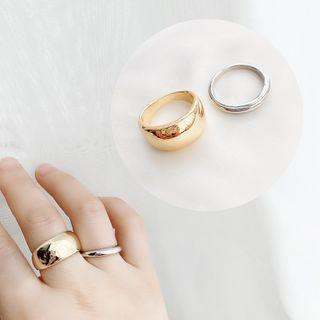 Set Of 2: Ring Set Of 2 - Gold & Silver - One Size