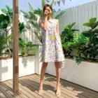 Floral Mini Pinafore Dress