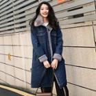 Furry Long Denim Jacket