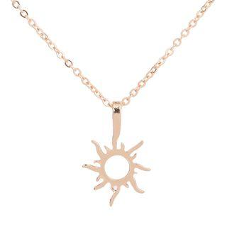 Sun Necklace Gold - One Size