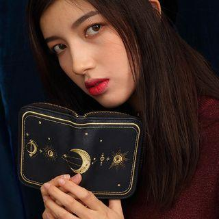 Moon Embroidered Wallet