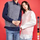 Couple Wool Blend M Lange Sleeveless Sweater In 10 Colors
