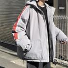 Striped Hooded Parka