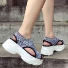 Knit Platform Sandals