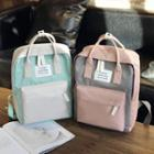 Two-tone Applique Backpack