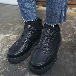 Round-toe Genuine-leather Oxfords