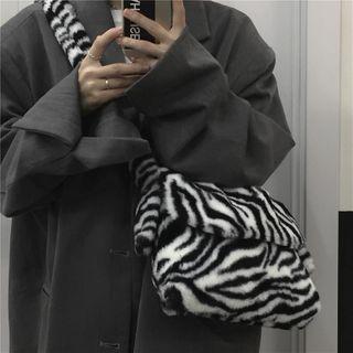 Zebra Print Fluffy Messenger Bag