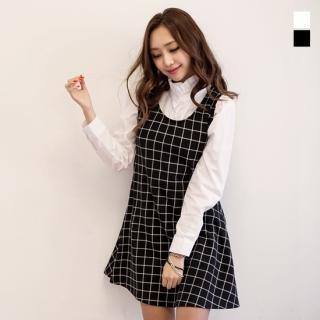 Check Jumper Dress