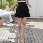 Inset Shorts Frilled Miniskirt