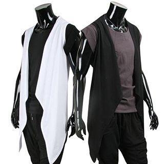 Open Front Asymmetrical Vest