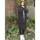 Hooded Flap-pocket Long Puffer Coat
