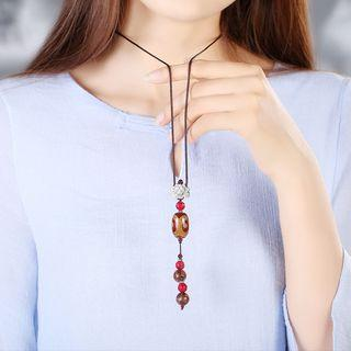 Wood Craft Necklace As Shown In Figure - 70cm
