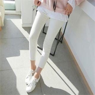 Brushed-fleece Lined Corduroy Skinny Pants