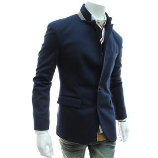Mandarin Collar Blazer