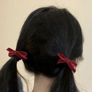 Ribbon Velvet Hair Tie / Hair Clip