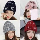 Cat Embroidered Beanie
