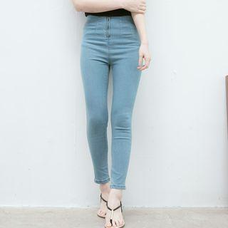 Zip-front Skinny Jeans